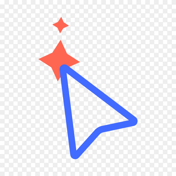 Cursor line icon. symbol in trendy flat style on transparent background PNG