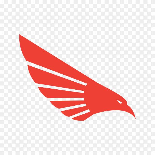 Eagle head logo on transparent background PNG