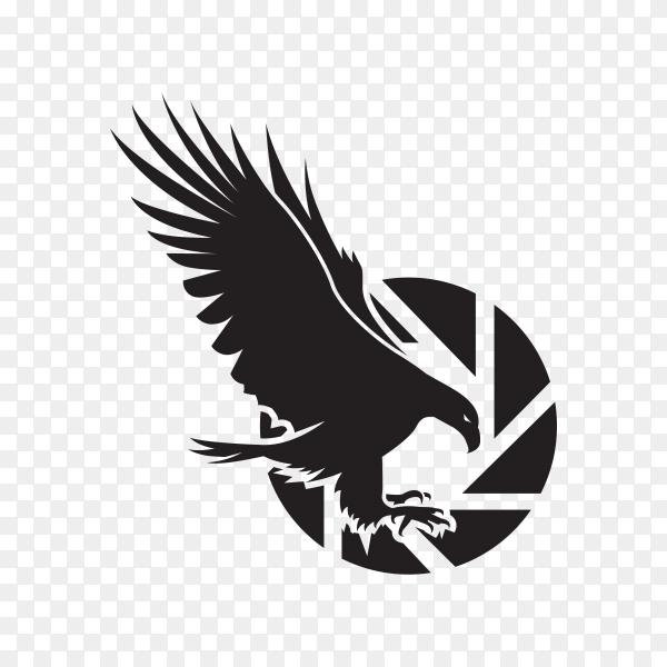 Eagle logo template on transparent background PNG