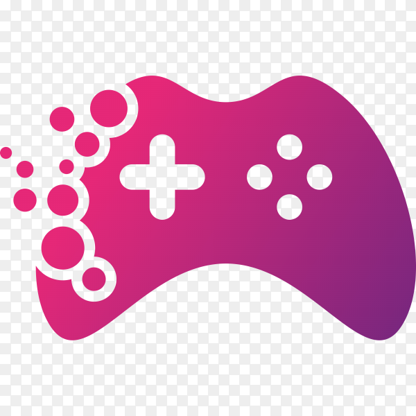 Gaming logo template on transparent background PNG