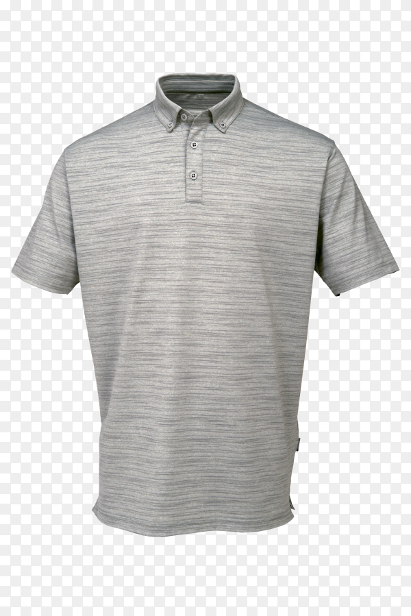 Gray tee shirt for man or woman on transparent background PNG