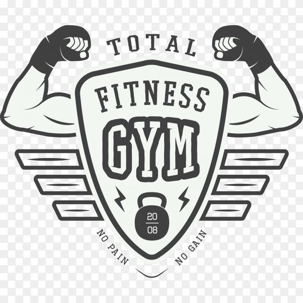 Gym logo, label on transparent background PNG
