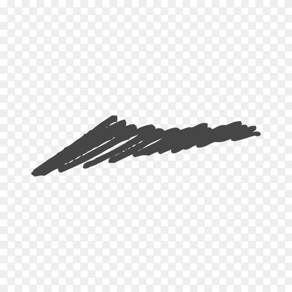 Hand Painted Brush Stroke isolated on transparent background PNG