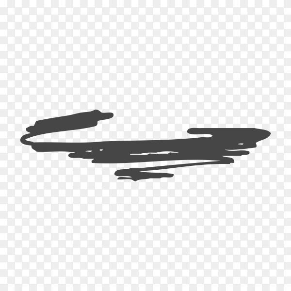 Hand Painted black Brush Stroke premium vector PNG