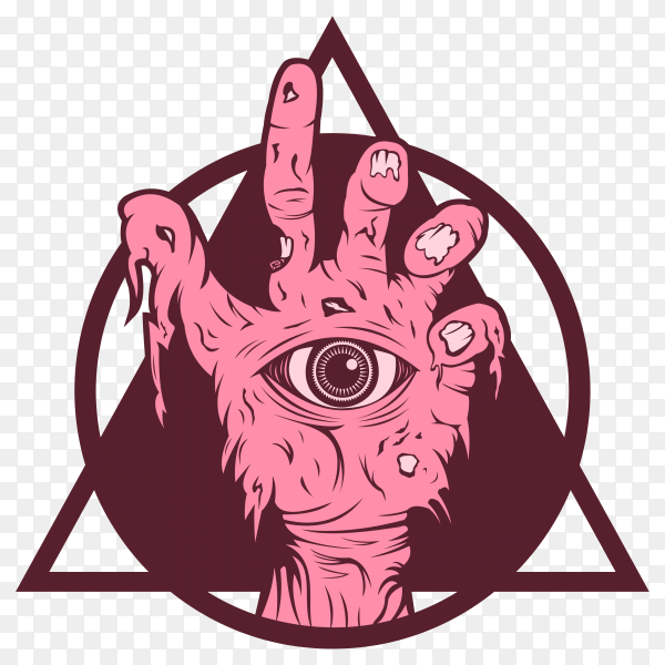 Hand Zombie on transparent background PNG