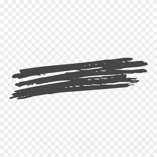 Hand drawn brush line on transparent background PNG