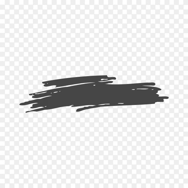 Hand drawn brush line premium vector PNG