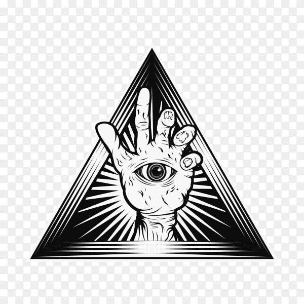 Hand zombie illustration on transparent background PNG