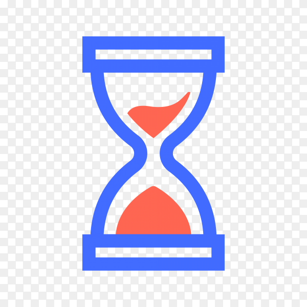 Hourglass Icon illustration on transparent background PNG