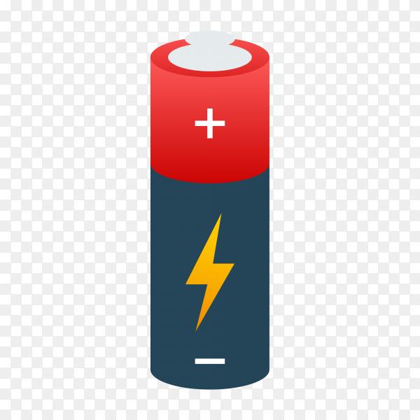 Illustration of Alkaline battery on transparent background PNG