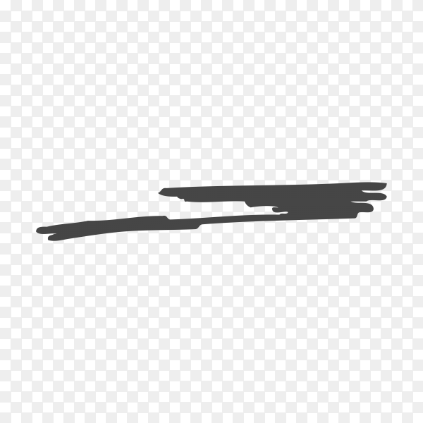 Illustration of Hand Painted Brush Stroke on transparent background PNG