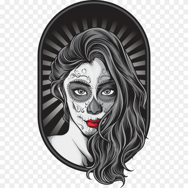 Illustration of Skull Tattoo on transparent background PNG