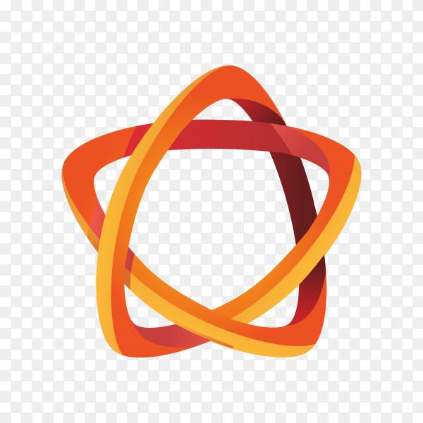 Illustration of logo design isolated on transparent background PNG