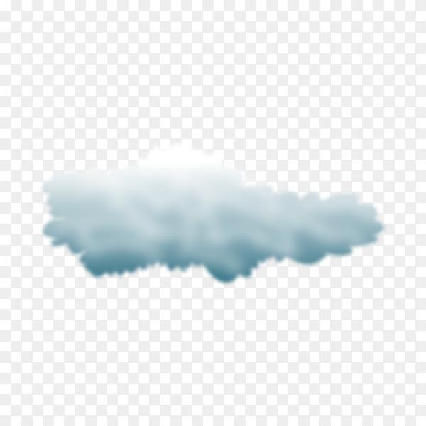 Illustration of storm clouds on transparent background PNG
