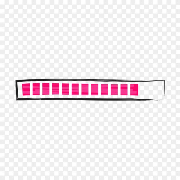 Isolated loading bars. Progress bar on transparent background PNG