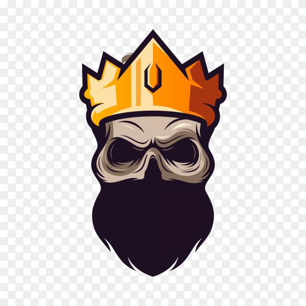 King skull on transparent background PNG