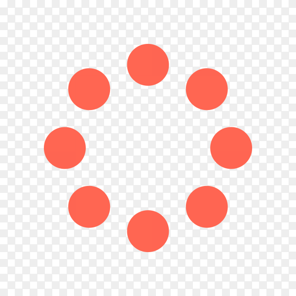 Loading icon on transparent background PNG