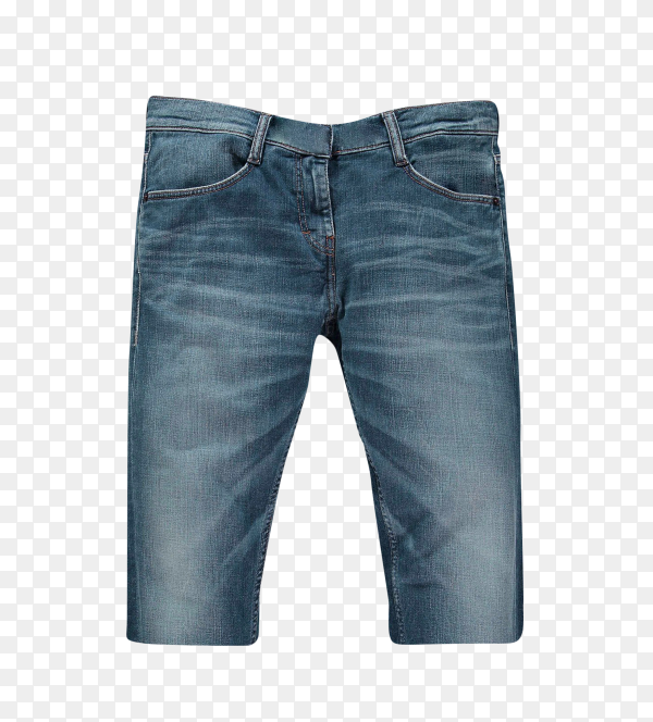 Male jeans shorts on transparent background PNG