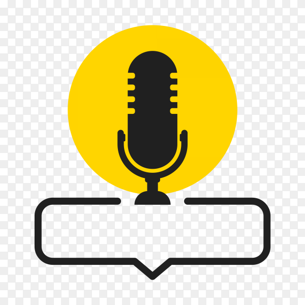 Microphone icon. Speaker on transparent background PNG