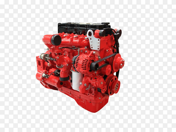 New car engine isolated on transparent background PNG