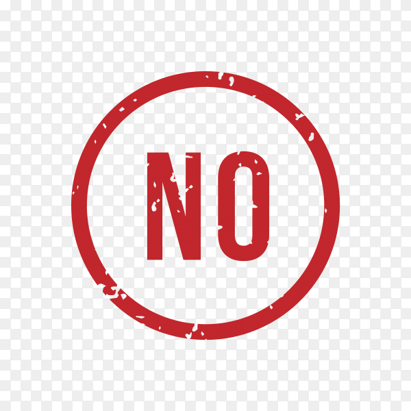 No rubber stamp Isolated on transparent background PNG