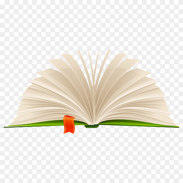 Open book isolated on transparent background PNG