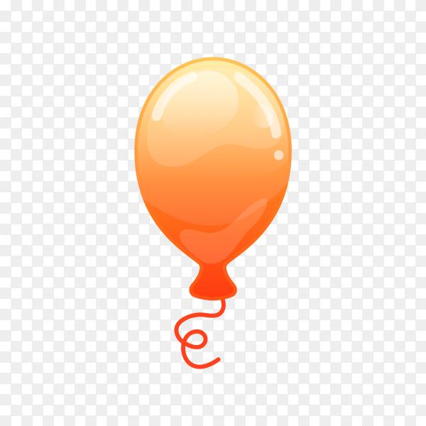 Orange balloon on transparent background PNG