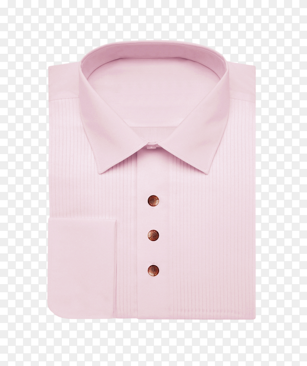 Pink shirt isolated on transparent background PNG