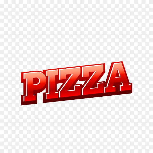Pizza shop icon on transparent background PNG