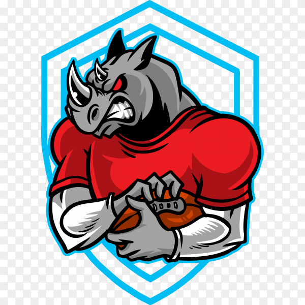 Rhino football on transparent background PNG