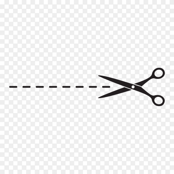 Scissors icon template on transparent background PNG