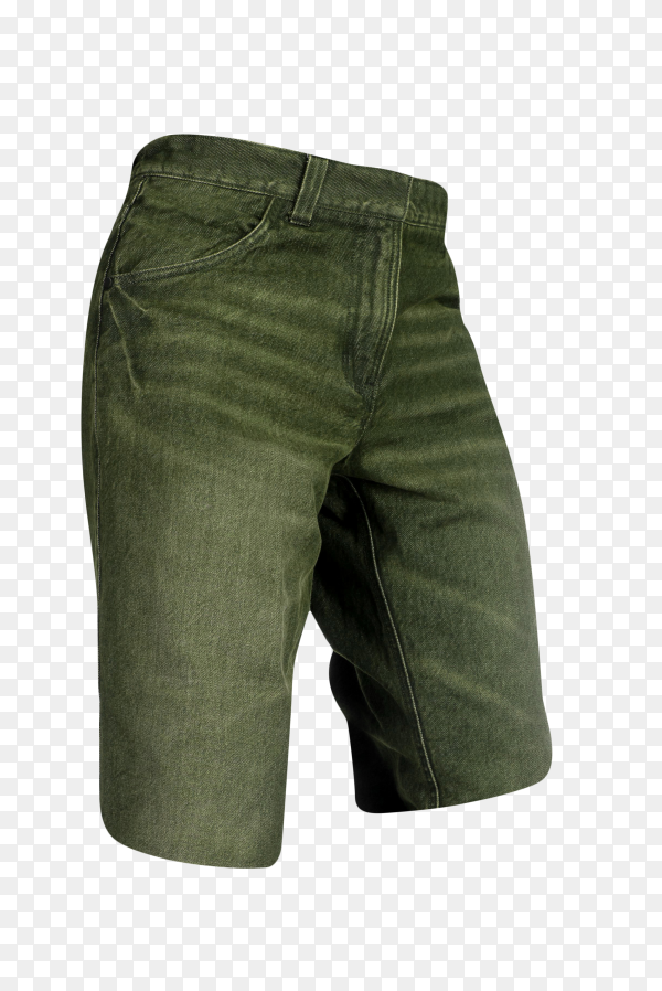 Short jean pants for men isolated on transparent background PNG