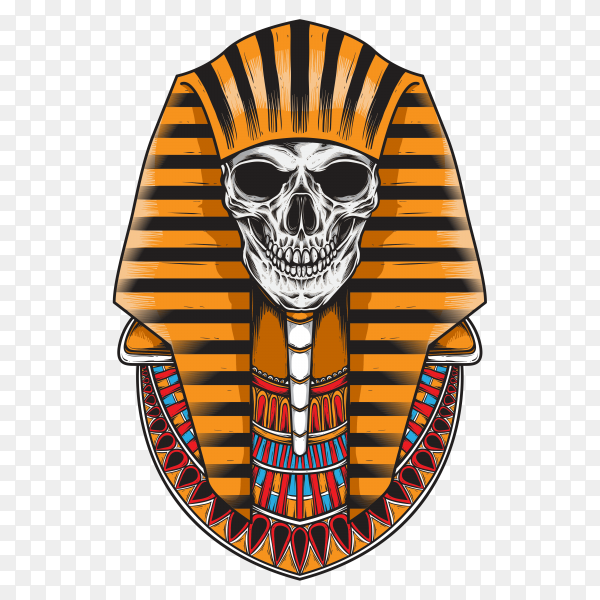 Skull sarcophagus on transparent background PNG