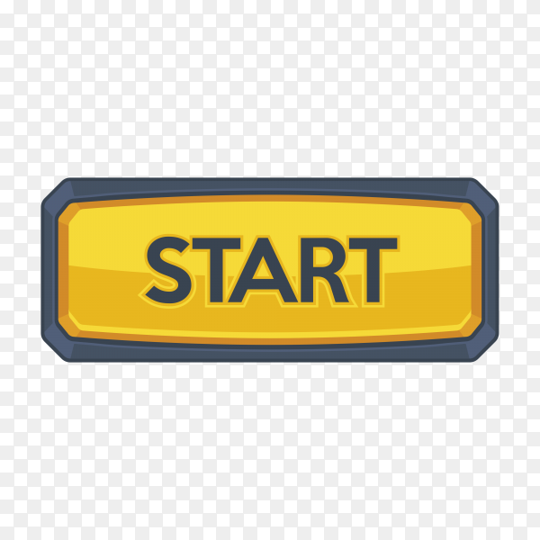 Start button icon on transparent background PNG