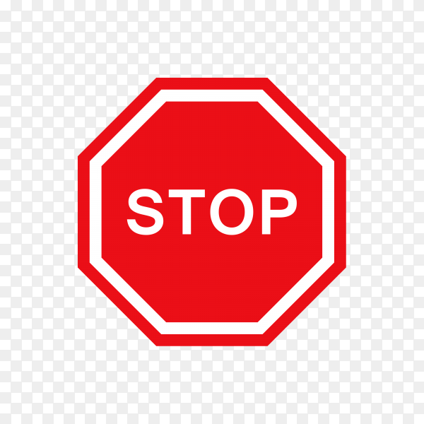 Stop Sign Icon on transparent background PNG
