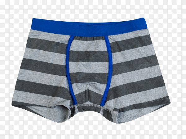 Striped men underwear isolated on transparent background PNG