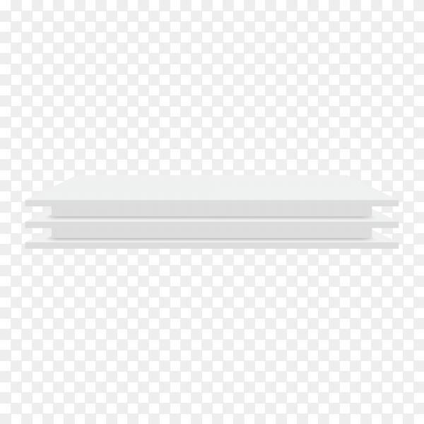 White podium pedestal illustration on transparent background PNG
