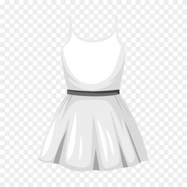 White short dress on transparent background PNG