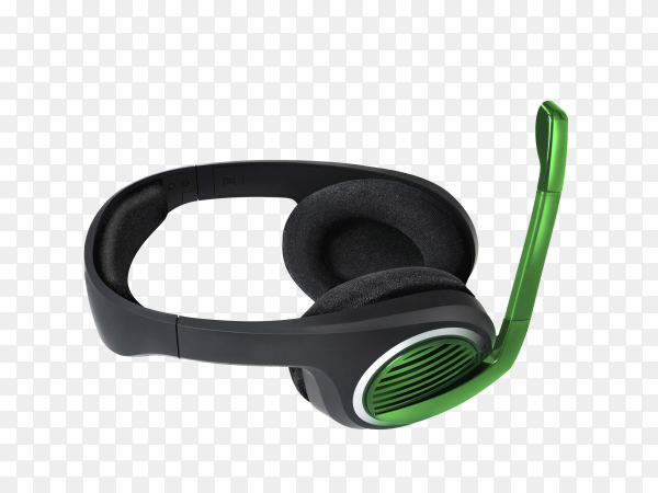 Wireless headset isolated on transparent background PNG