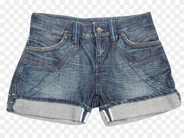 Women's Jeans Shorts on transparent background PNG