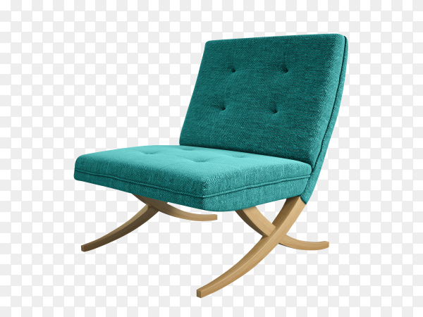 Armchair isolated on transparent background PNG