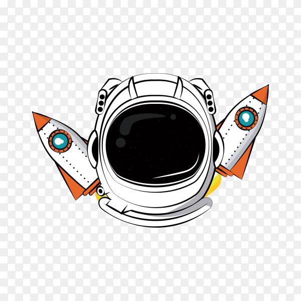 Astronaut adventure spirit print for t shirt on transparent background PNG