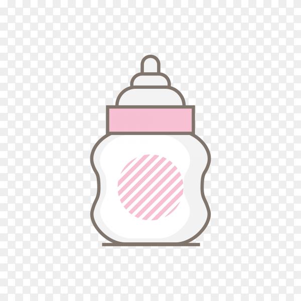 Baby milk bottle on transparent background PNG