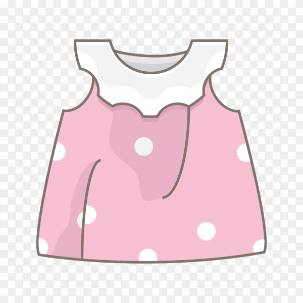 Beautiful baby dress on transparent background PNG