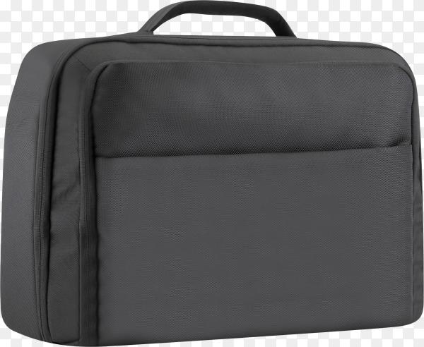 Black laptop bag isolated on transparent background PNG