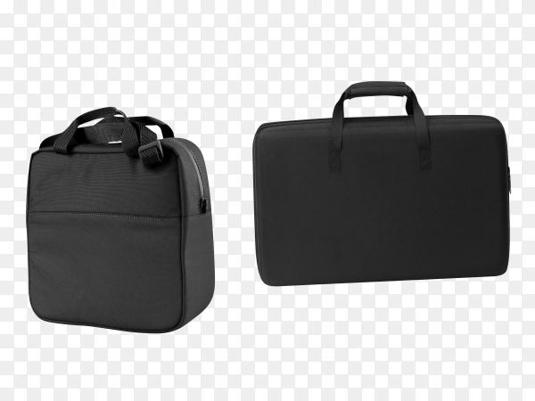 Black office bag on transparent background PNG