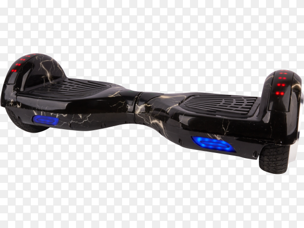 Black Segway isolated on transparent background PNG