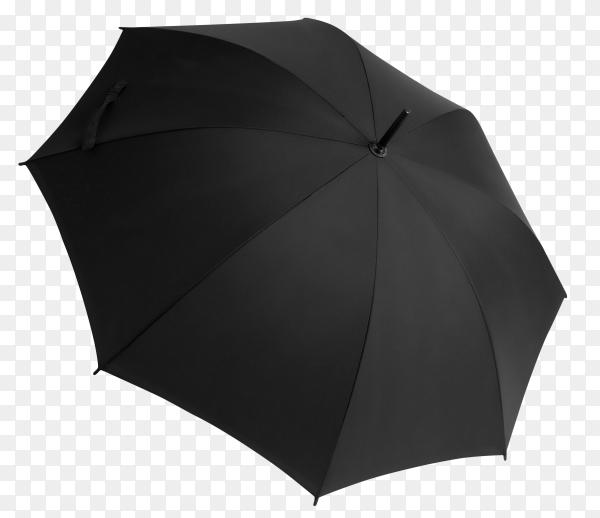 Black umbrella on transparent background PNG