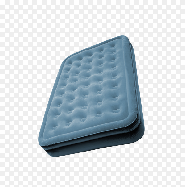 Blue Mattress isolated on transparent background PNG