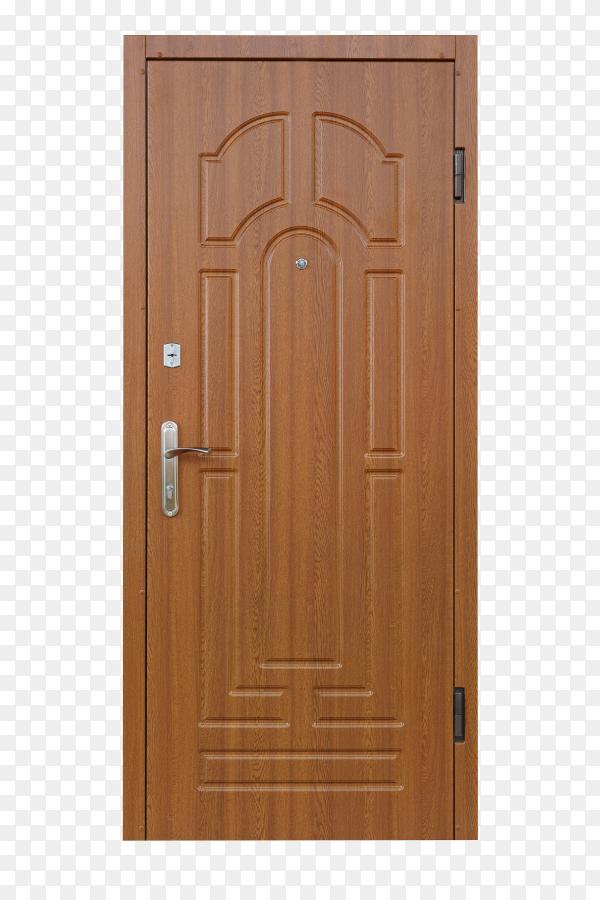 Brown door on transparent background PNG